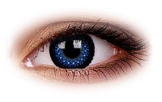 Eyelush Blue | Party Contact Lenses
