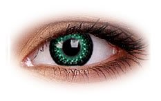 Eyelush Green | Party Contact Lenses