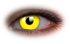 Glow Yellow | Novelty Contact Lenses