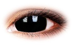 Black Titan 17mm Mini Sclera | Vampire Contact Lenses