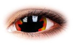 Blackhole Sun 17mm Mini Sclera | Devil Contact Lenses