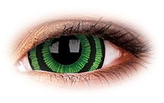 Green Goblin 17mm Mini Sclera | ColourVue Contact Lenses
