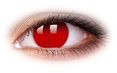 Red Screen | Devil Contact Lenses