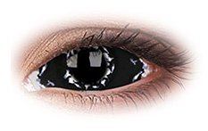 Apocalypse 22mm Sclera | Black Contact Lenses