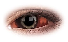 Quasar 22mm Sclera | Red Contact Lenses