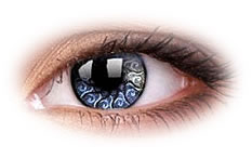 Star and Jewel Silver Jewel | Party Contact Lenses