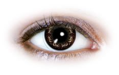 Swirly Brown (N504) | Party Contact Lenses