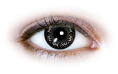 Swirly Grey (N505) | Party Contact Lenses