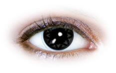 Star Grey (N599) | Black Contact Lenses