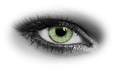 Queens Solitaire Jade | Green Contact Lenses