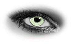 Queens Solitaire Light Green | Colour Contact Lenses