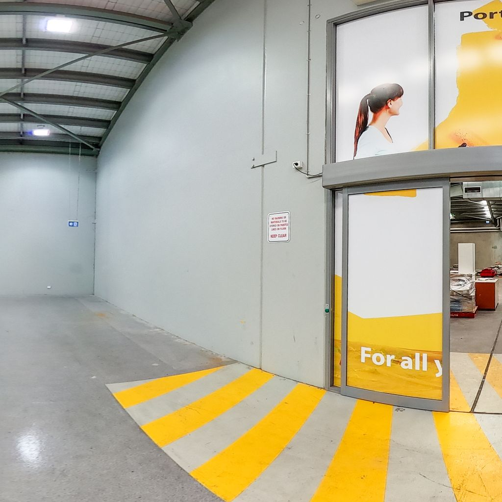 Showroom Exit to Warehouse