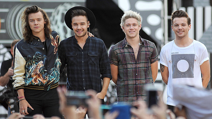 Harry Styles, Liam Payne, Niall Horan, Louis Tomlinson, One Direction on stage for ABC''s Good Morning America (GMA) Fun in the Sun Summer Concert Series with One Direction (1D), Rumsey Playfield in Central Park, New York, NY August 4, 2015. Photo By: Kristin Callahan/Everett Collection