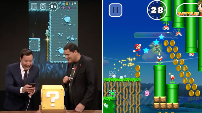 Picture: Så blir nya Super Mario Run till iPhone – här testar Jimmy Fallon spelet