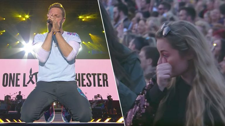 "Picture: Coldplays ""Fix You"" under One Love Manchester är rysligt fin"