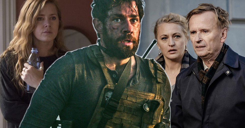 Amy Adams i Sharp objects, John Krasinski i Jack Ryan och Johan Ulveson i Det som göms i snö