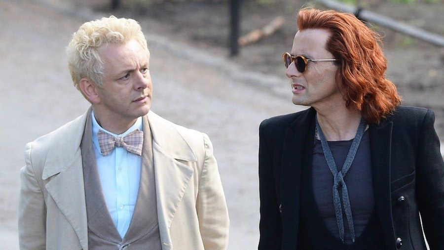 "Michael Sheen och David Tennant i ""Good Omens"""