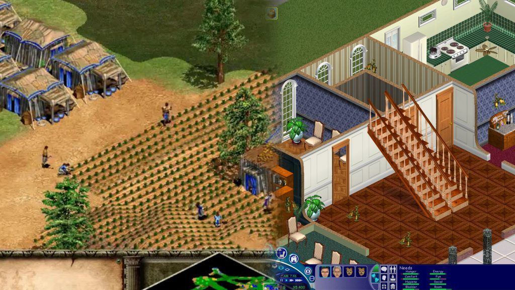 Age of Empires 2 och The Sims.