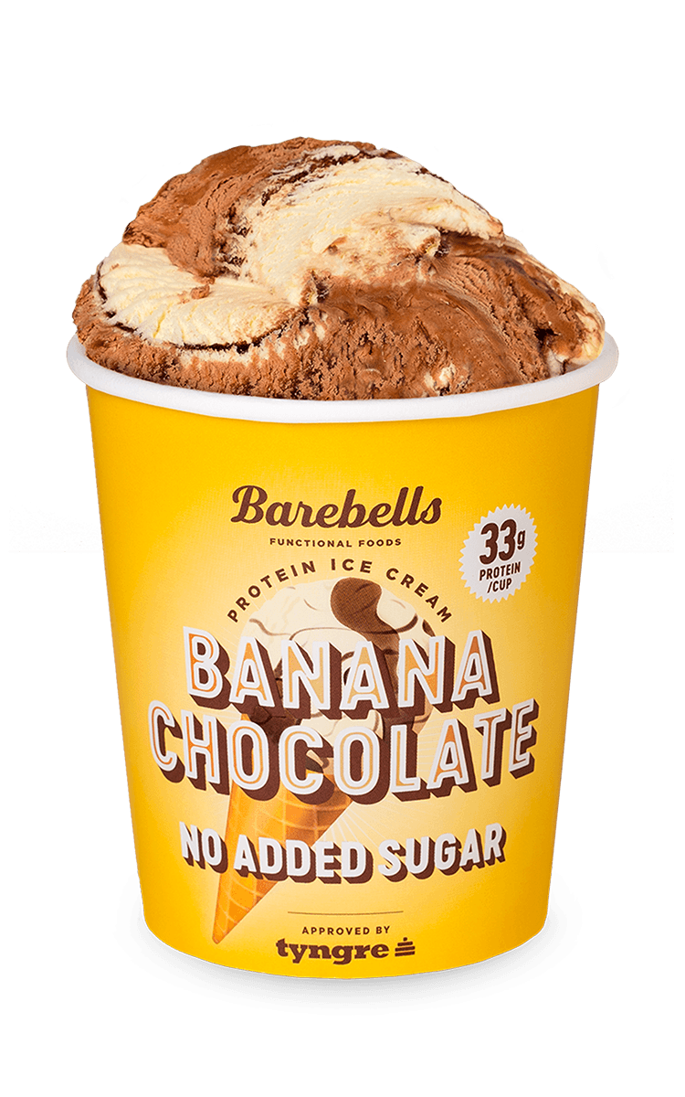 Barebells Banana Chocolate-glass.