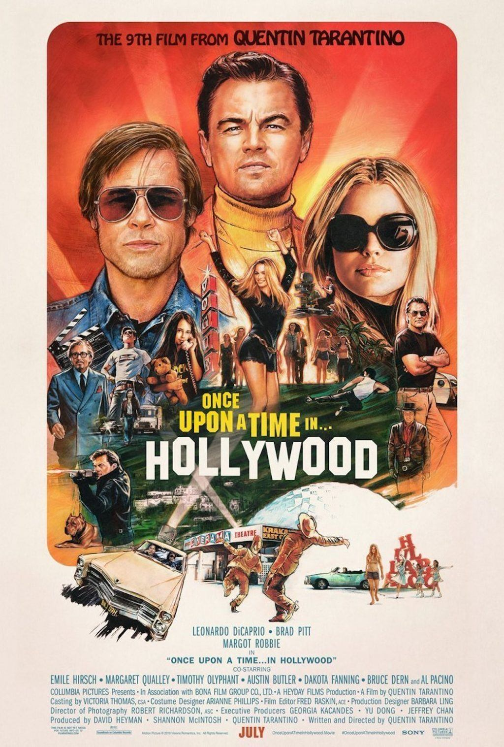 Filmpostern till Quentin Tarantino-filmen Once Upon a Time in Hollywood.