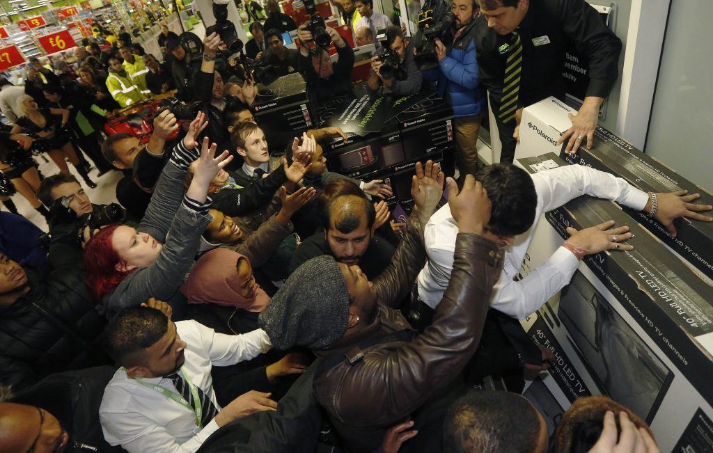 Black Friday-hysteri.