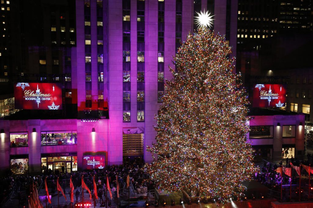 Julgran vid Rockefeller Center.