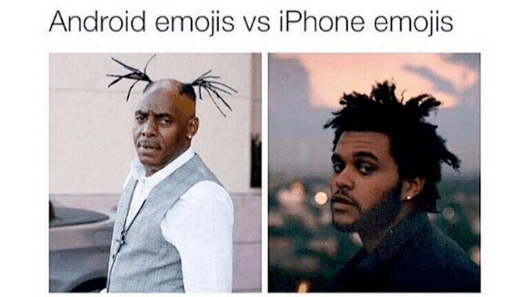 Android vs Iphone meme