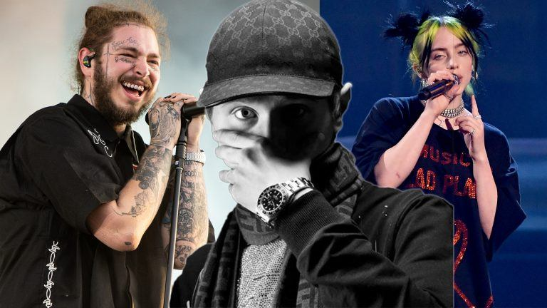 Post Malone, Einár och Billie Eilish.