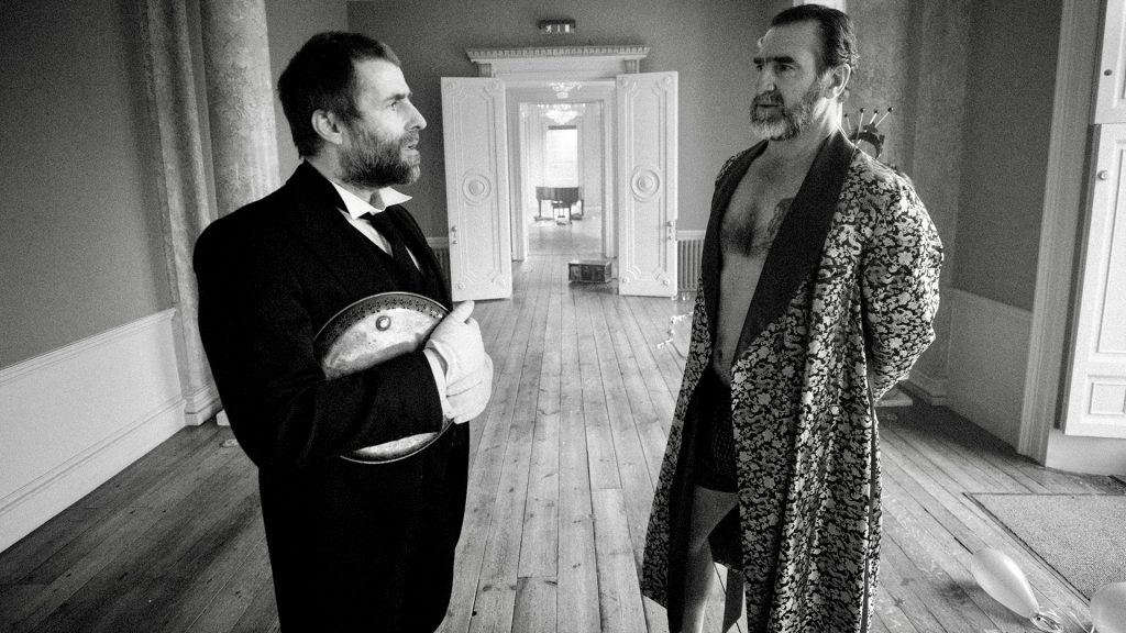 Liam Gallagher och Eric Cantona.