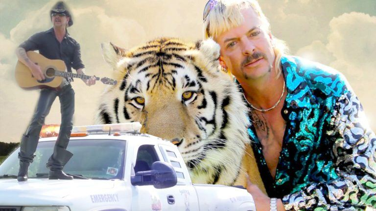 Joe Exotic med en tiger.