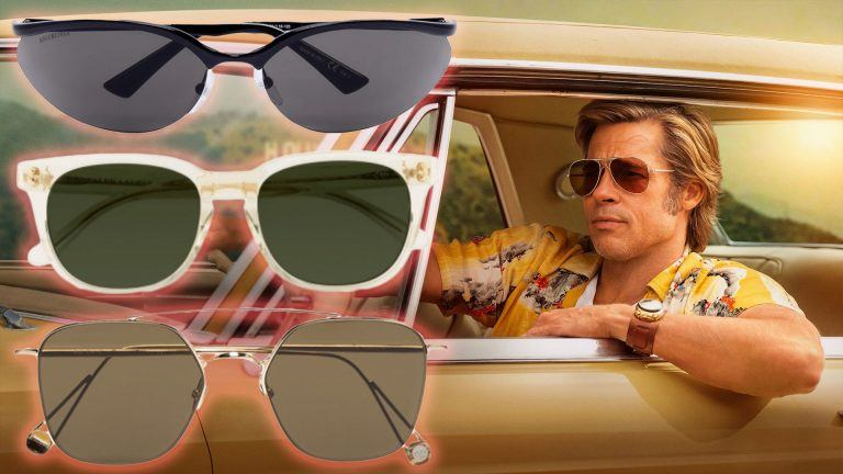Solglasögon 2020 och Brad Pitt i Once Upon a Time in Hollywood.