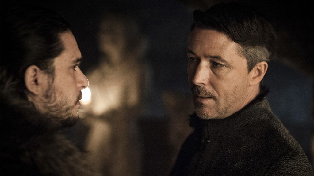 Jon Snow och Little Finger i Game of Thrones