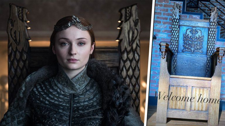 Sansa Stark och Game of Thrones-tronen