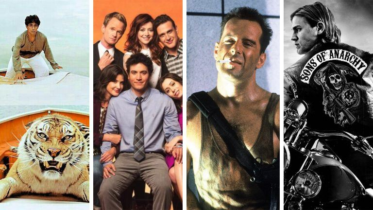 Filmerna och tv-serierna Life of Pi, How I Met Your Mother, Die Hard och Sons of Anarchy