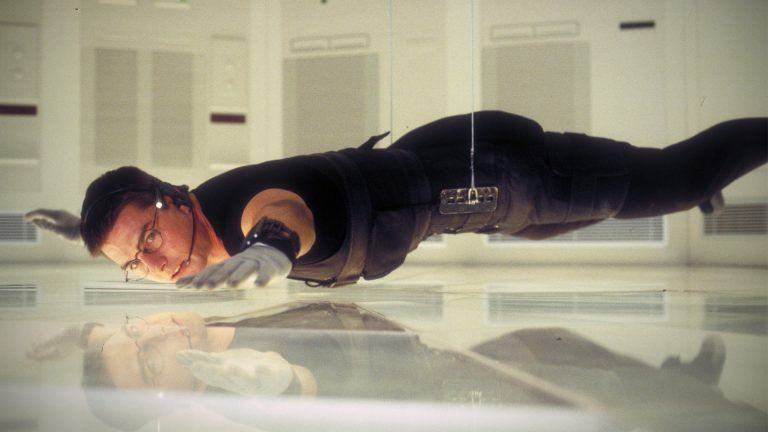 Stillbild på Tom Cruise från filmen Mission impossible