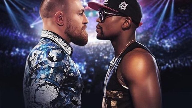 Picture: Conor McGregor mot Floyd Mayweather