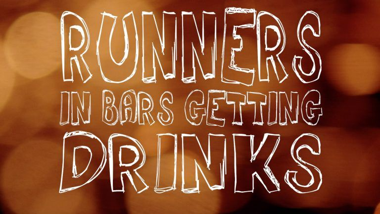 Picture: Runner in bars getting drinks