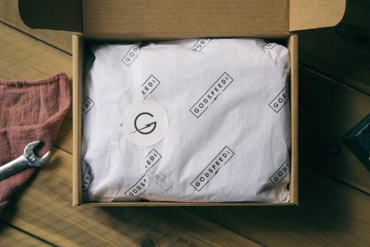 Godspeed Co's branded tissue paper