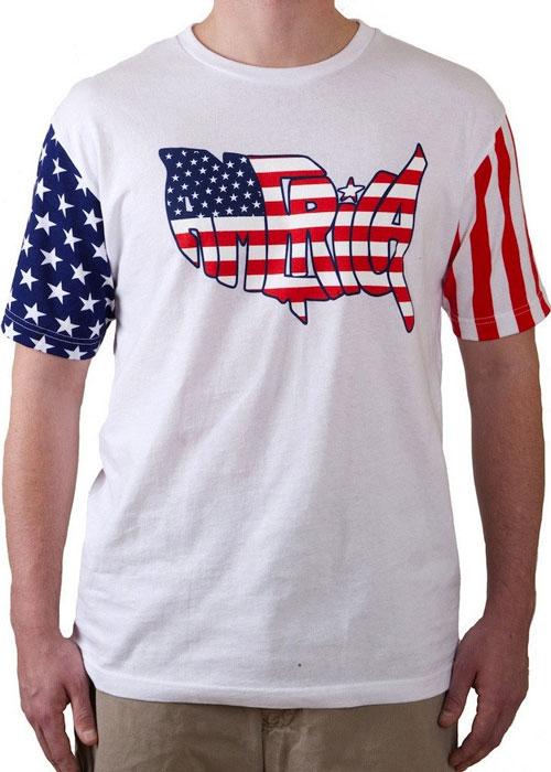 American Peace Sign crop top