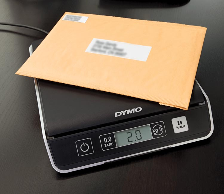 DYMO scaled with envelope on top