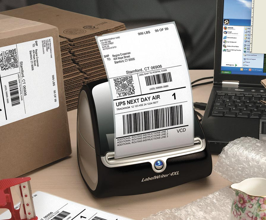 Thermal printer and label