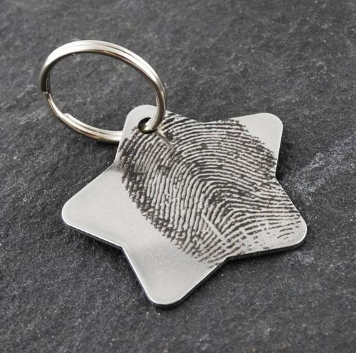 Custom fingerprint keychain