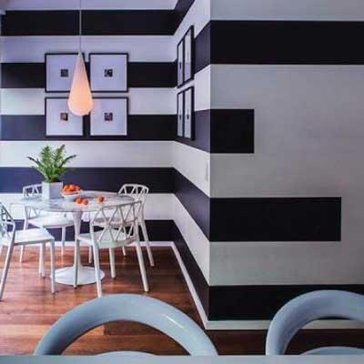 Black easy stripes
