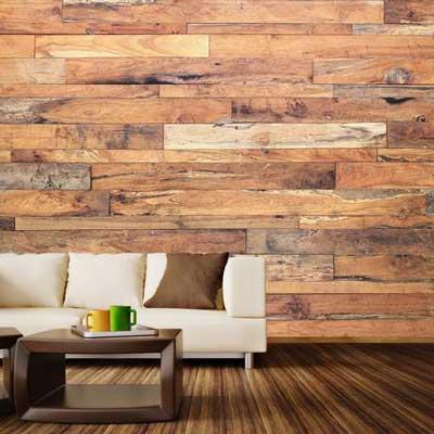 Wood mural
