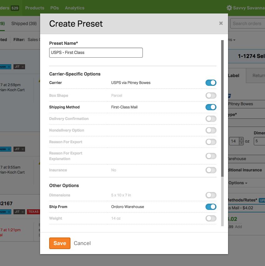 Create preset UI