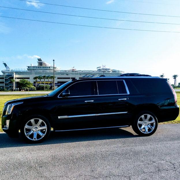 Black SUV at Port Canaveral