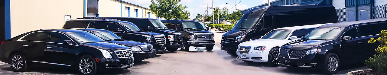 Fleet for Limo Service from Orlando Airport to Disney