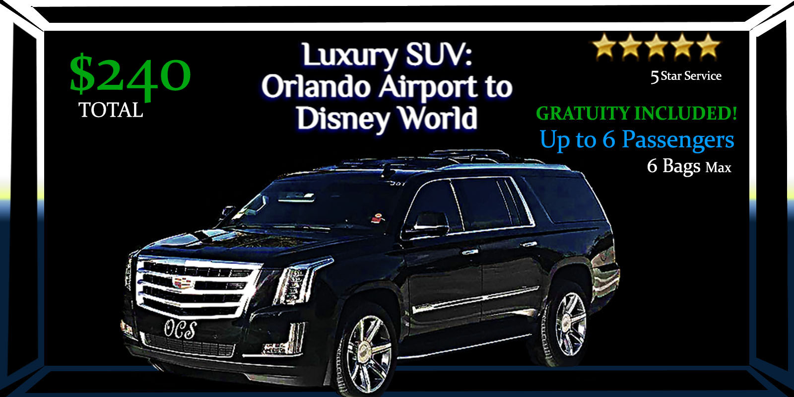 SUV MCO Disney Limo Rate Details