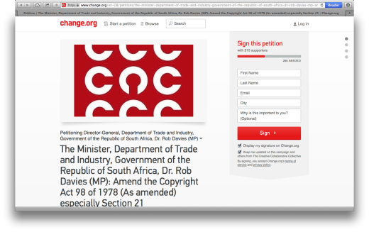 Copyright Act Petition