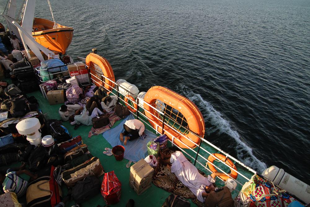 Aswan To Wadi Halfa Ferry Man Prays Line EGYPT SUDAN